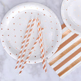 rose gold party napkins