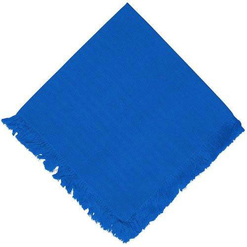 royal blue dinner napkin with fringe