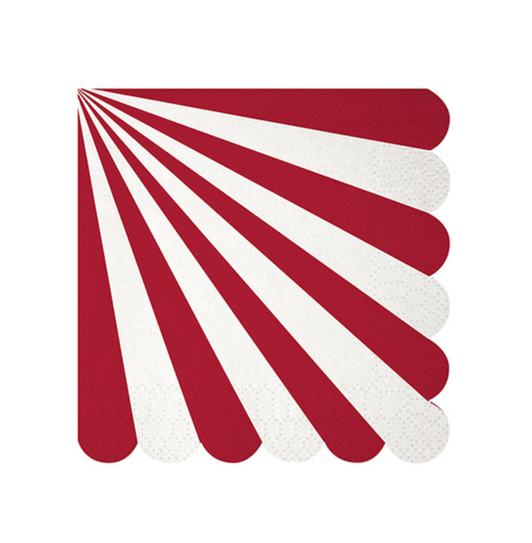 Red Striped Party Napkins