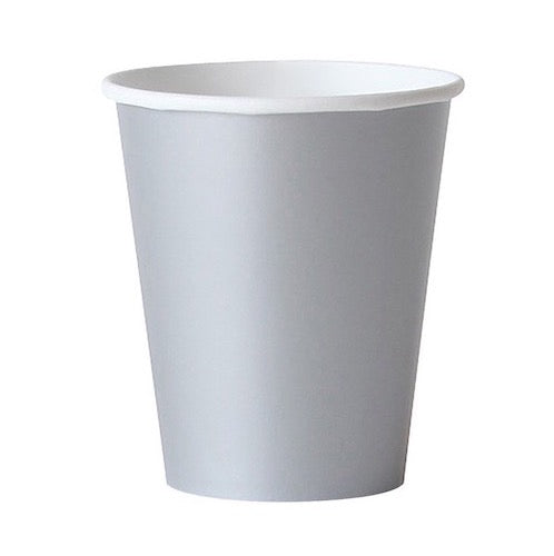 silver paper party cups