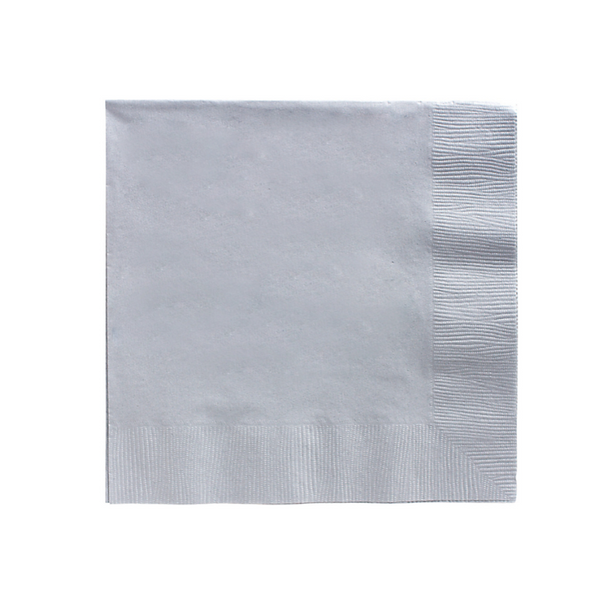 silver paper party napkins