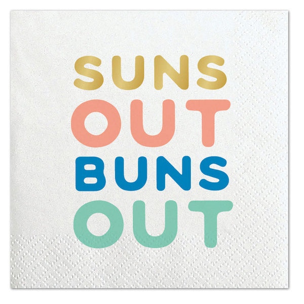 Suns Out Buns Out Napkins - Witty Bash