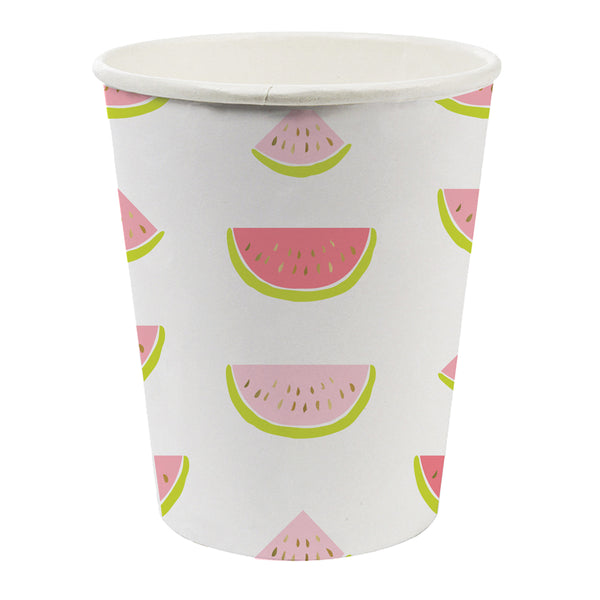 Watermelon paper party cups