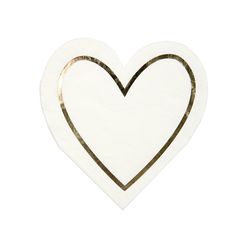 White Heart Napkins - Witty Bash
