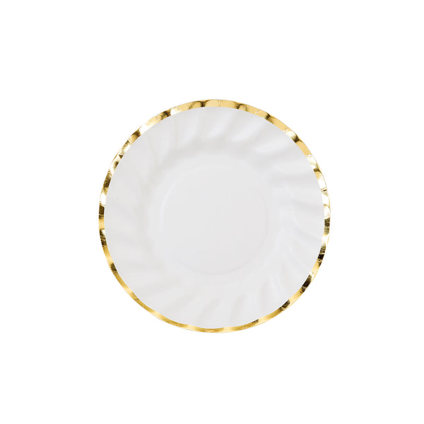 Small White and Gold Party Plates