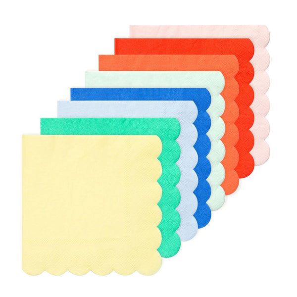 multi-colored party napkins