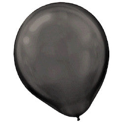 Pearl Black Latex Balloons - Witty Bash