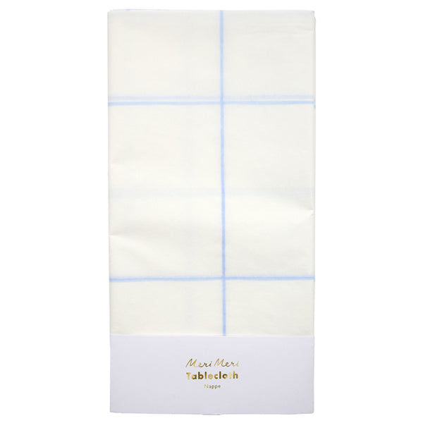 Blue Grid Table Cover
