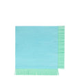 blue colorful fringe napkins