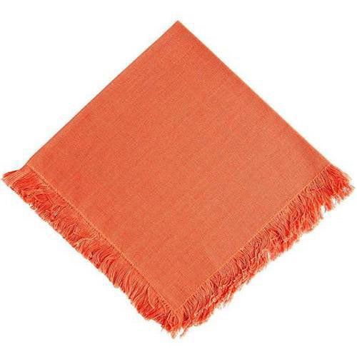 burnt orange dinner napkin