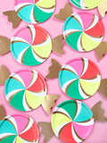 colorful candy plates