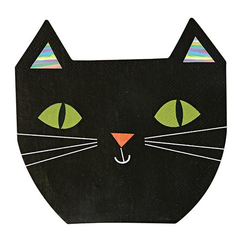 black cat party napkins