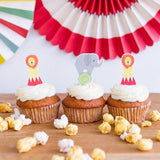 circus cupcake kit with liners and toppers