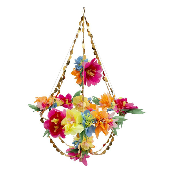 colorful flower chandelier