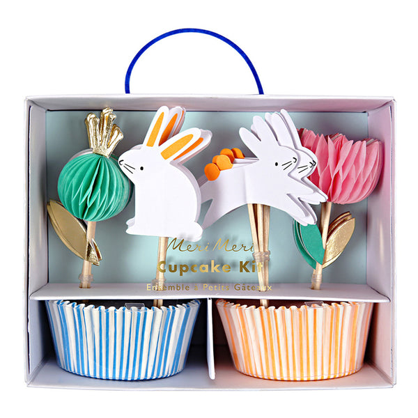 Easter cupcake kit including liners and bunny toppers