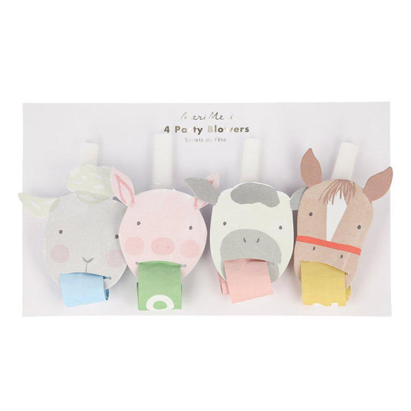 farm animal party blowers