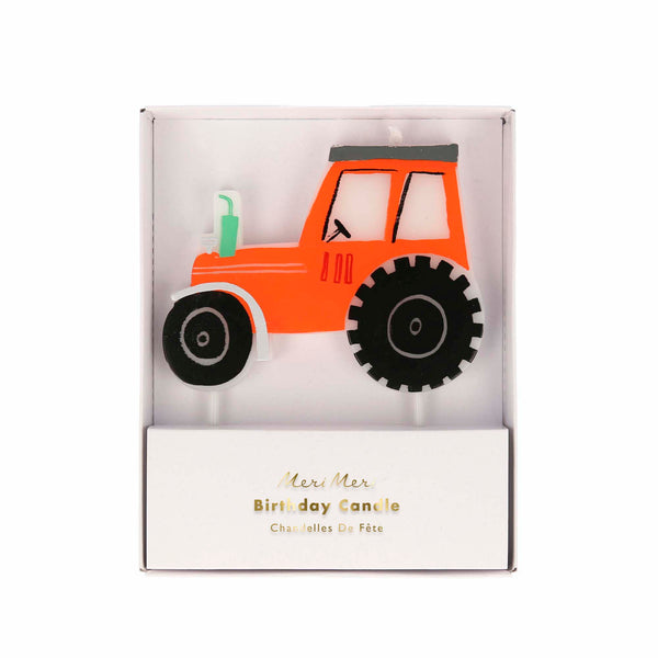 farm tractor candle