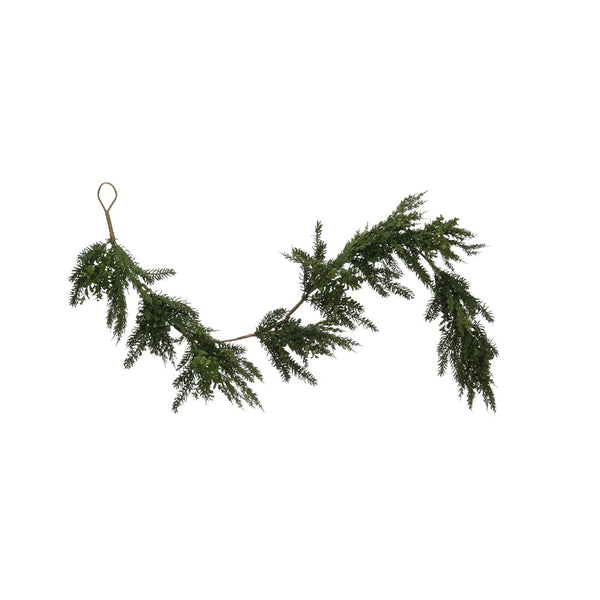 Faux Boxwood & Pine Garland