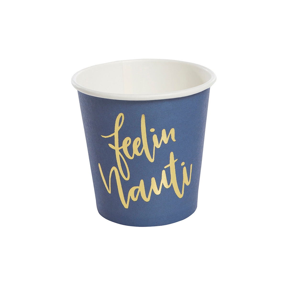 Navy Blue and Gold Nautical Paper Shot Cups