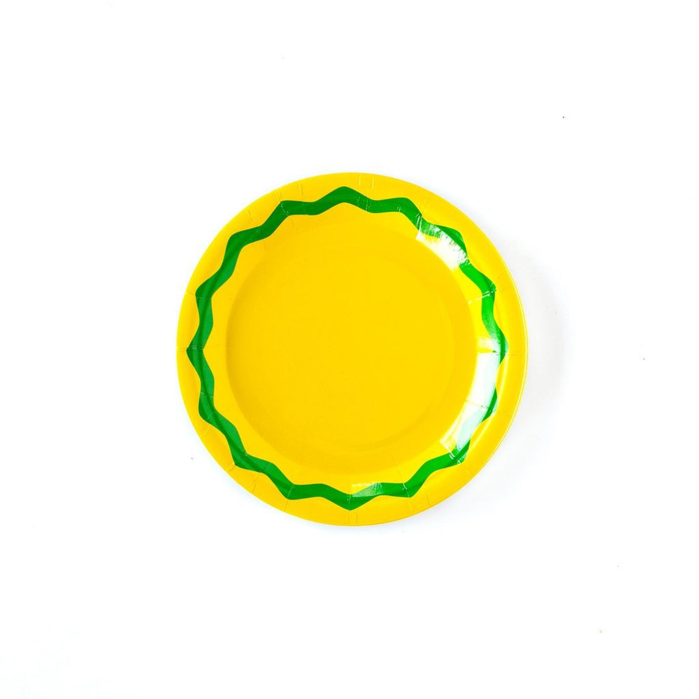 yellow and green fiesta plates