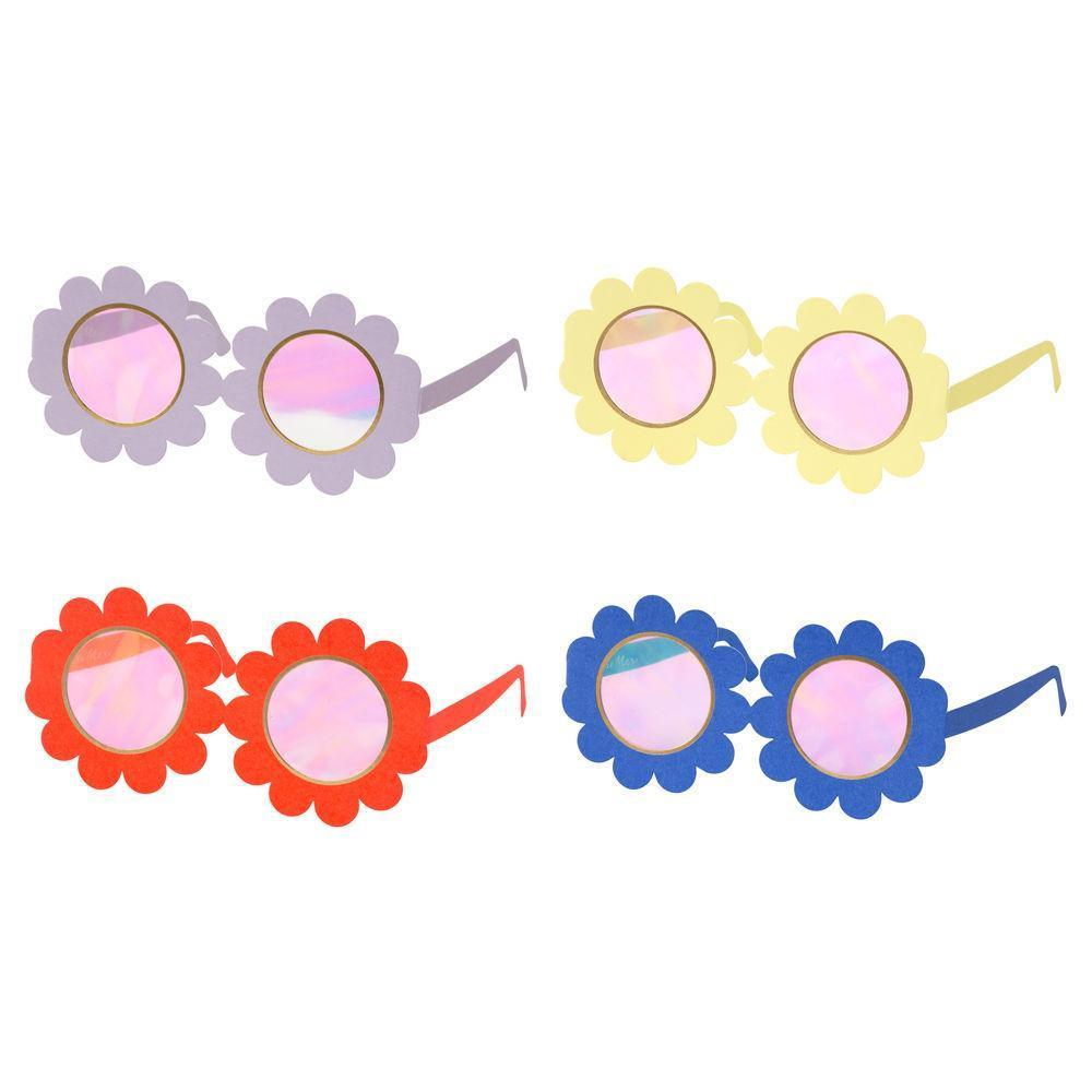 Colorful Paper Flower Sunglasses