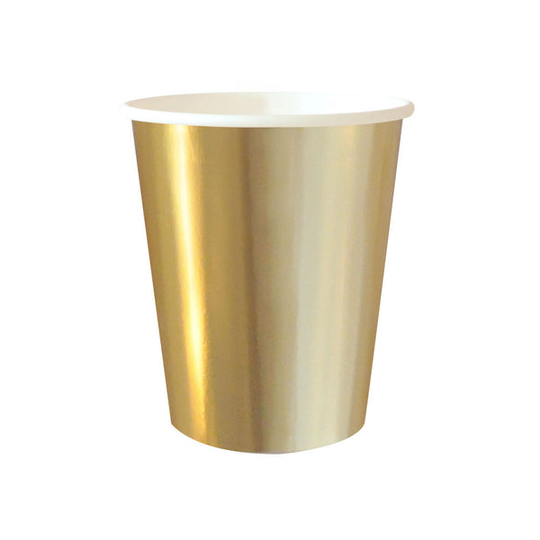 gold foil paper party cups