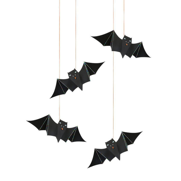 Halloween Hanging Bats with Orange String