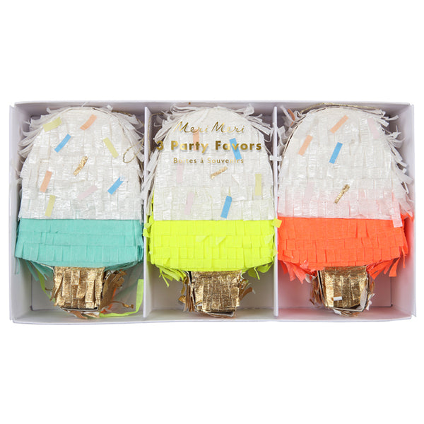 a pack of 3 ice cream favors