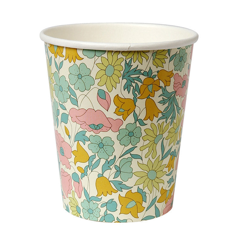 cute floral party cups