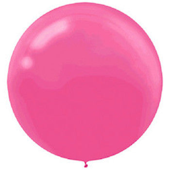 Bright Pink Latex Balloons (Jumbo)