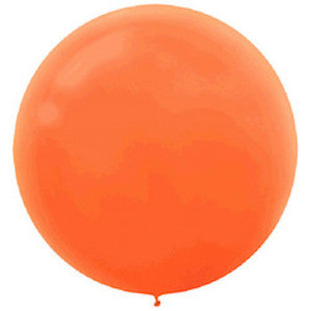 Jumbo Latex Balloons (Orange) - Witty Bash