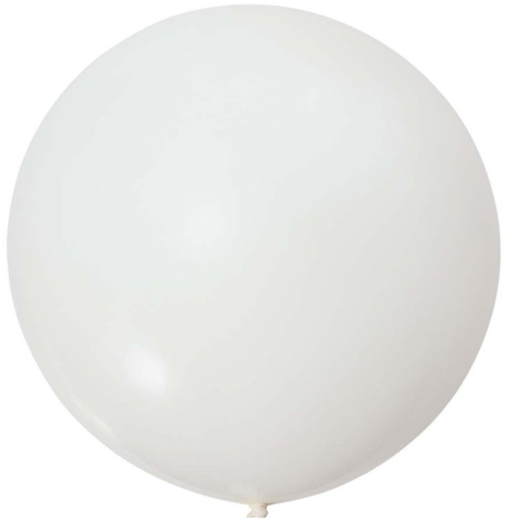 White Jumbo Latex Balloons