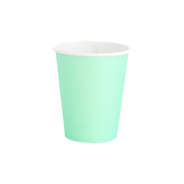 solid mint party cups