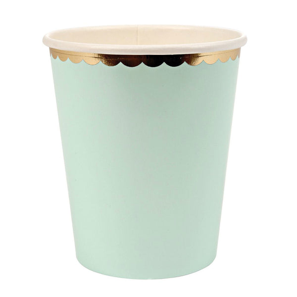 mint green pastel cups