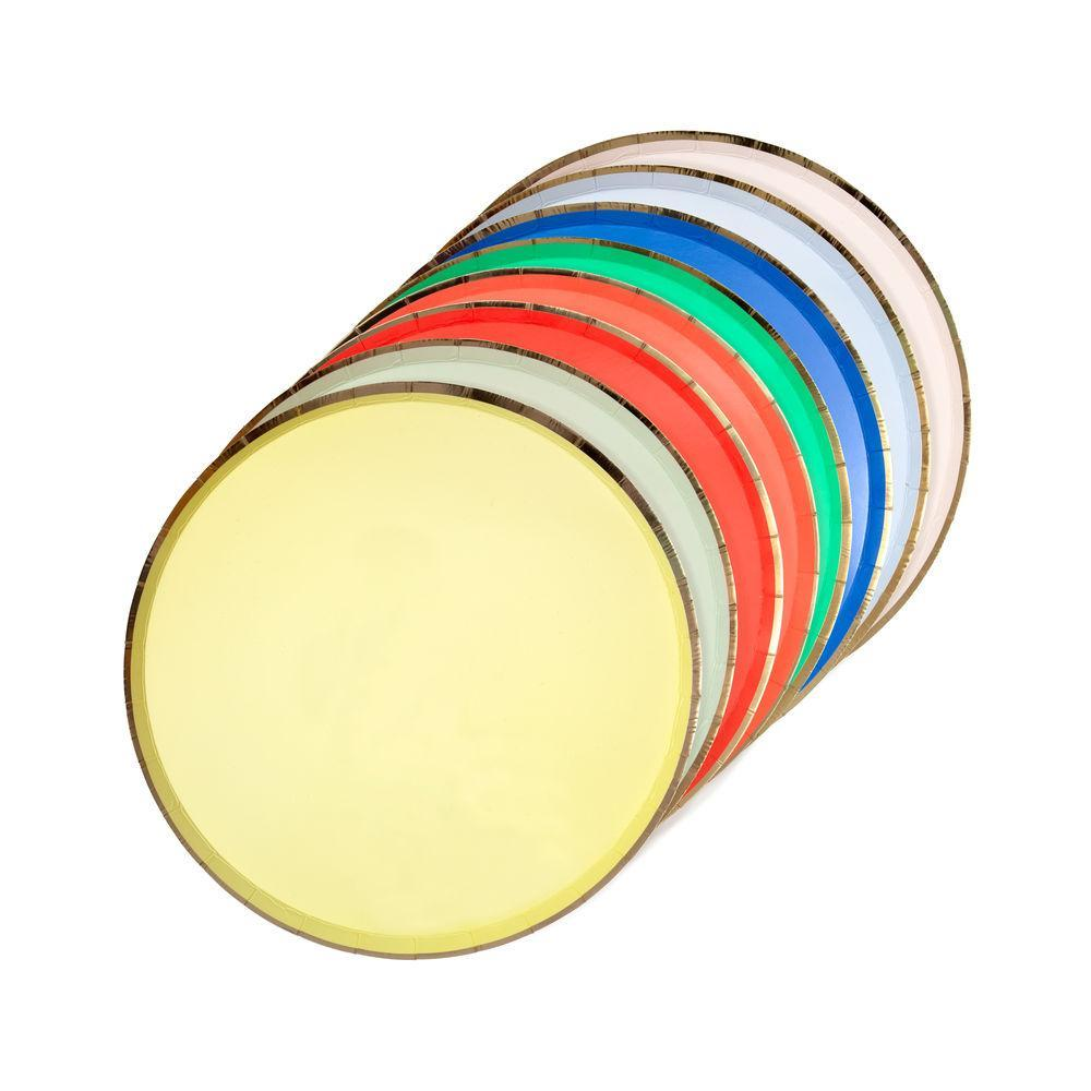 Multi-Colored Party Plates