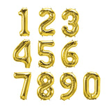 gold jumbo number balloons
