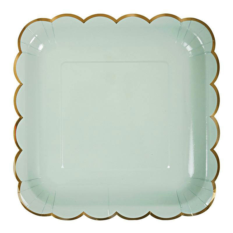 pastel Green Party plates