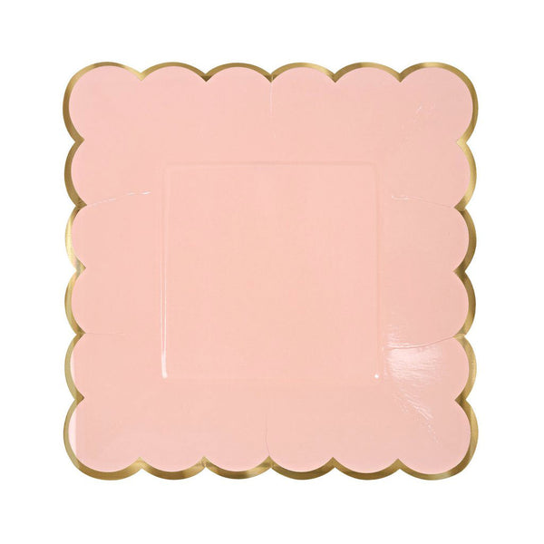 pastel pink party plates