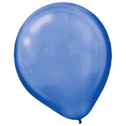 Pearl Blue Latex Balloons - Witty Bash