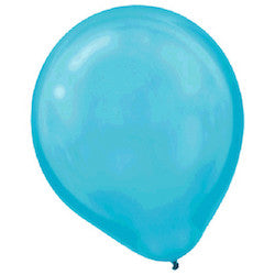 Pearl Caribbean Blue Latex Balloons - Witty Bash