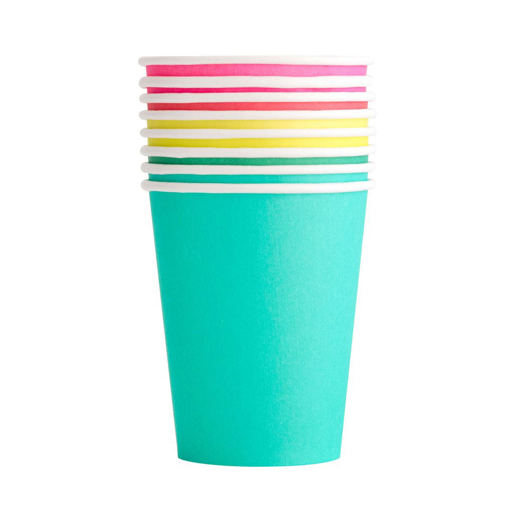 rainbow cups in an assortment of colors