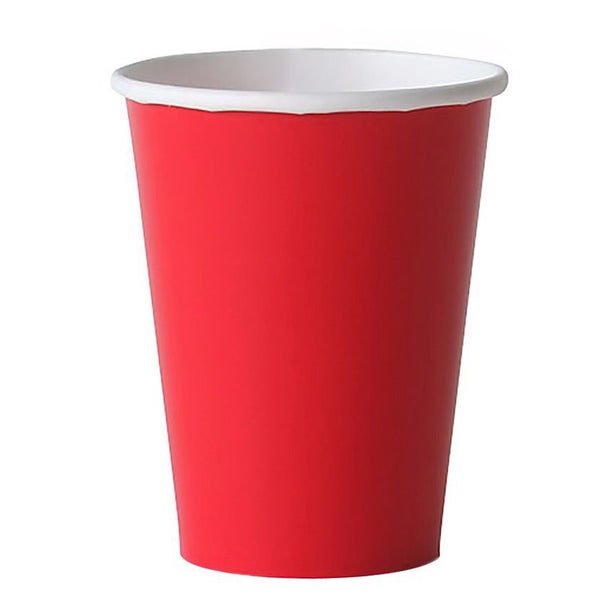 solid red party cups