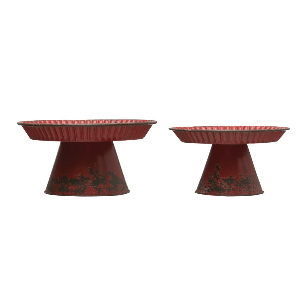Antique Red Decorative Stand