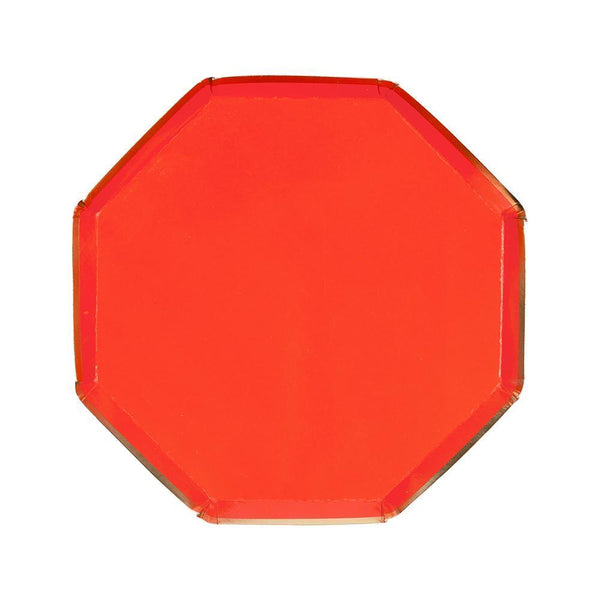 Red Plates in Hexagonal Shape