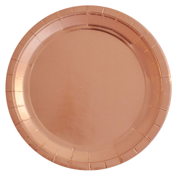 Rose Gold Paper Plates - Witty Bash