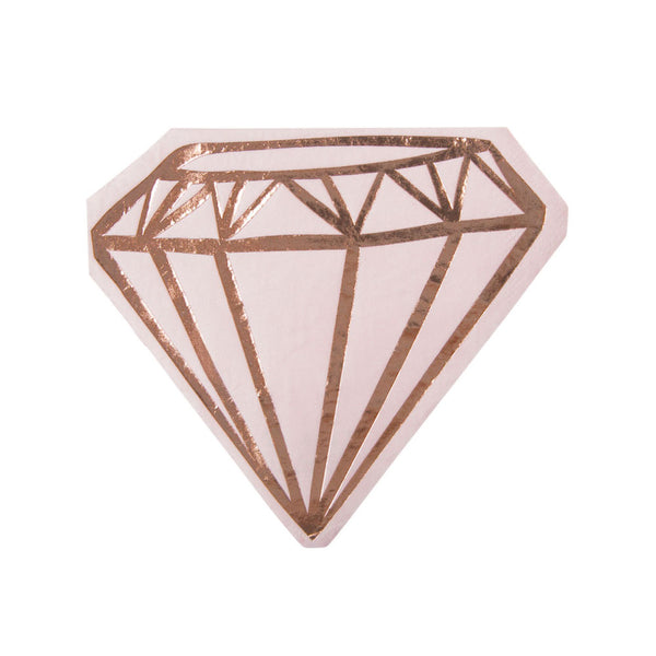 rose gold diamond ring bridal shower napkins