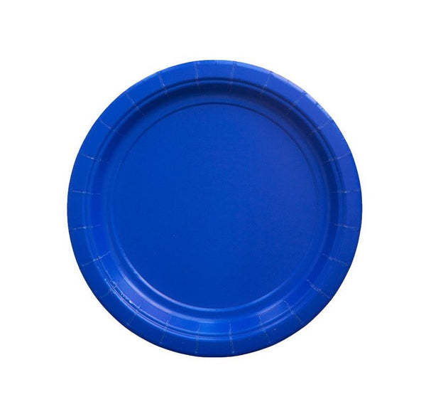 Royal Blue Party Plates - Witty Bash