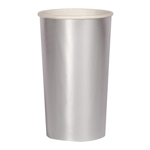 silver highball cups