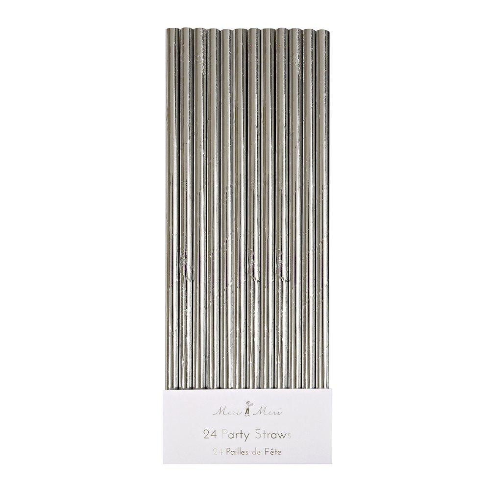 Silver Paper Straws for Drinking