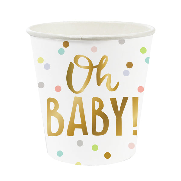mini oh baby paper party cups